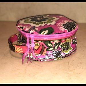 Vera Bradley Round Makeup Accessories Bag